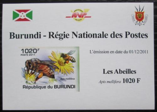 Poštovní známka Burundi 2011 Vèely neperf. DELUXE Mi# 2003 B Block