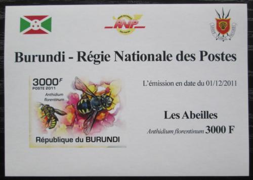 Poštovní známka Burundi 2011 Vèely neperf. DELUXE Mi# 2004 B Block