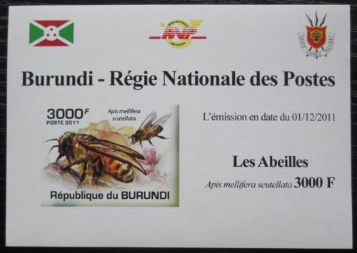 Poštovní známka Burundi 2011 Vèely neperf. DELUXE Mi# 2005 B Block