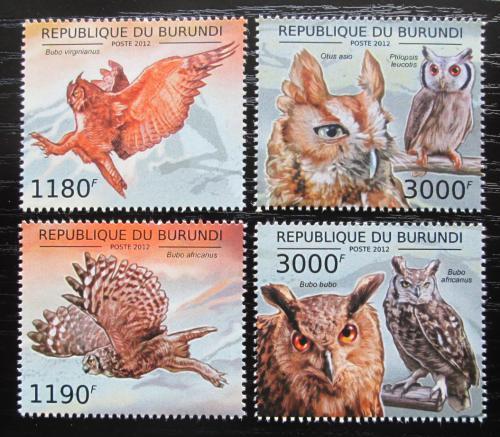 Poštovní známky Burundi 2012 Sovy Mi# 2808-11 Kat 10€