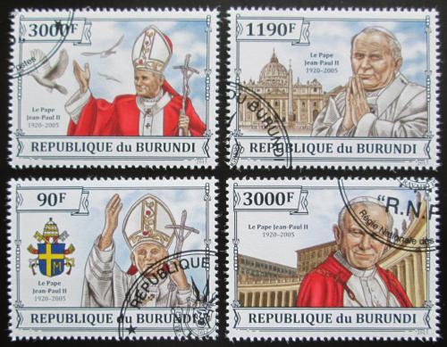 Poštovní známky Burundi 2013 Papež Jan Pavel II. Mi# 3233-36 Kat 8.90€