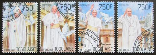 Poštovní známky Togo 2014 Papež František Mi# 5777-80 Kat 12€