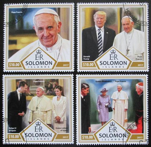 Poštovní známky Šalamounovy ostrovy 2017 Papež František Mi# 4627-30 Kat 12€