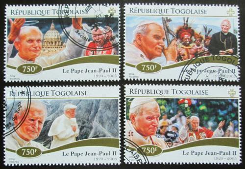 Poštovní známky Togo 2014 Papež Jan Pavel II. Mi# 6471-74 Kat 12€