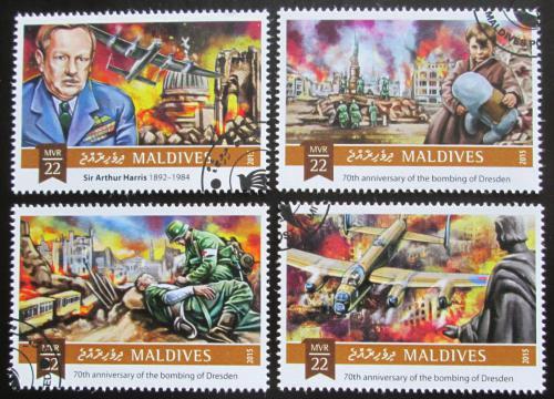 Poštovní známky Maledivy 2015 Bombardování Drážïan Mi# 6130-33 Kat 11€