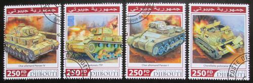 Poštovní známky Džibutsko 2019 Tanky Mi# 3121-24 Kat 10.50€