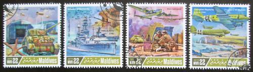Poštovní známky Maledivy 2019 Vylodìní v Normandii Mi# 8274-77 Kat 11€