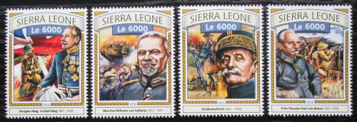 Poštovní známky Sierra Leone 2016 Bitva na Sommì Mi# 7748-51 Kat 11€