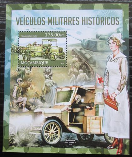 Poštovní známka Mosambik 2013 Historická vojenská vozidla Mi# Block 766 Kat 10€