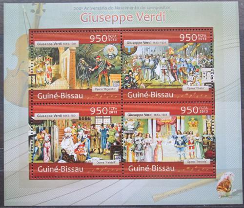 Poštovní známky Guinea-Bissau 2013 Giuseppe Verdi Mi# 6497-6500 Kat 14€