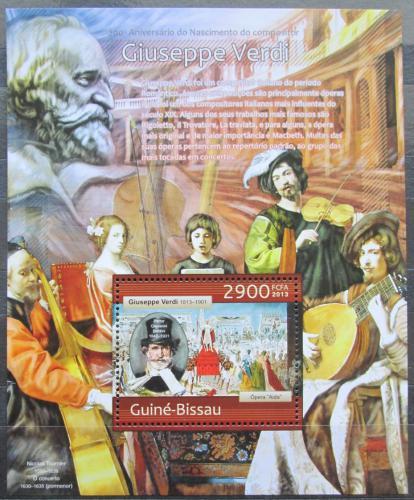 Poštovní známka Guinea-Bissau 2013 Giuseppe Verdi Mi# Block 1141 Kat 12€