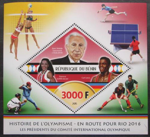 Poštovní známka Benin 2015 LOH Rio de Janeiro Mi# N/N