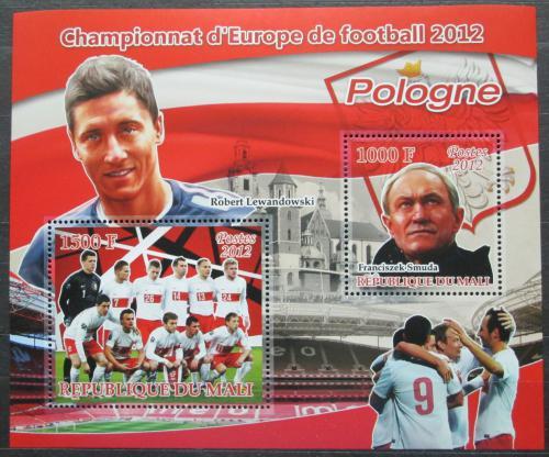 Poštovní známky Mali 2012 ME ve fotbale, tým Polsko Mi# N/N