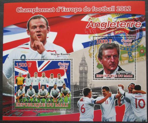 Poštovní známky Mali 2012 ME ve fotbale, tým Anglie Mi# N/N