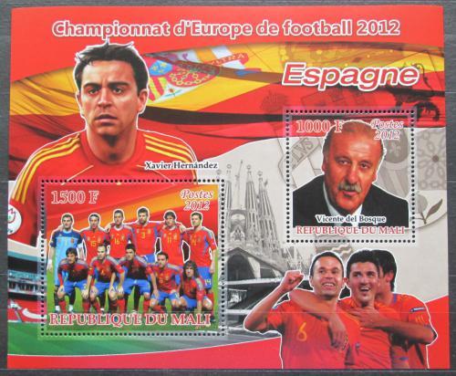 Poštovní známky Mali 2012 ME ve fotbale, tým Španìlsko Mi# N/N