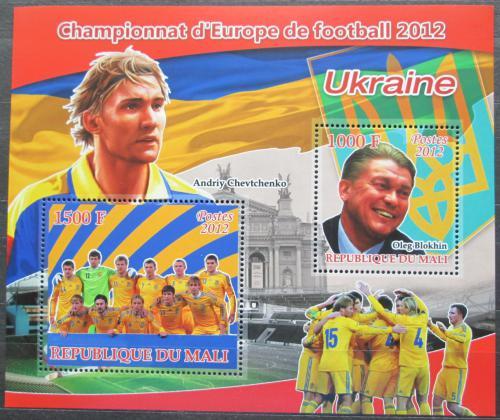 Poštovní známky Mali 2012 ME ve fotbale, tým Ukrajina Mi# N/N