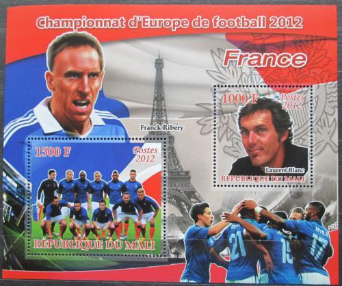 Poštovní známky Mali 2012 ME ve fotbale, tým Francie Mi# N/N