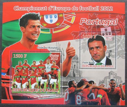 Poštovní známky Mali 2012 ME ve fotbale, tým Portugalsko Mi# N/N