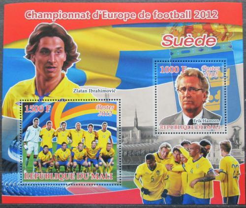 Poštovní známky Mali 2012 ME ve fotbale, tým Švédsko Mi# N/N