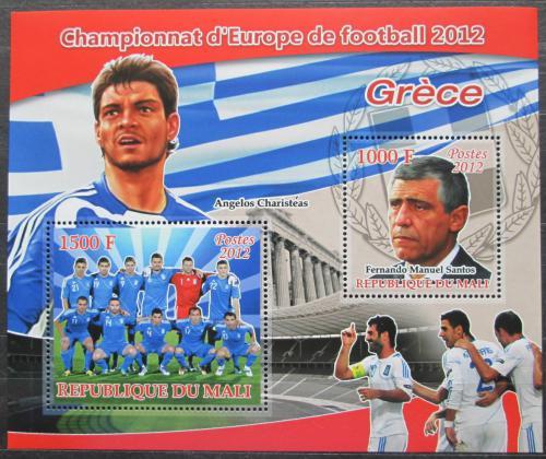 Poštovní známky Mali 2012 ME ve fotbale, tým Øecko Mi# N/N