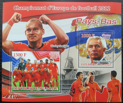 Poštovní známky Mali 2012 ME ve fotbale, tým Holandsko Mi# N/N