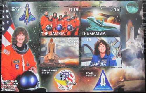 Poštovní známky Gambie 2003 Let raketoplánu Columbia Mi# 4929-32