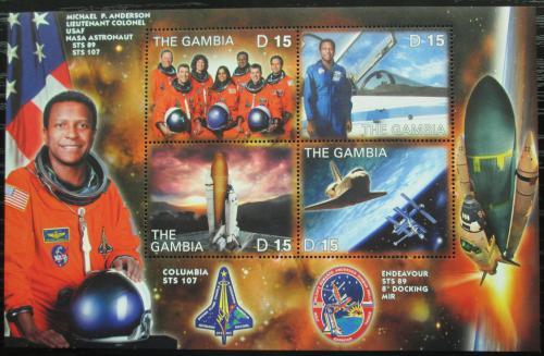 Poštovní známky Gambie 2003 Let raketoplánu Columbia Mi# 4937-40