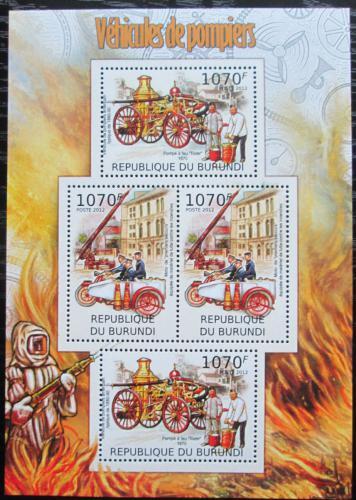 Poštovní známky Burundi 2012 Hasièi Mi# 2421-22 Bogen