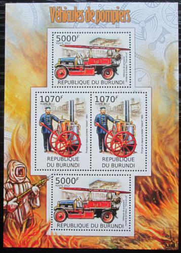 Poštovní známky Burundi 2012 Hasièi Mi# 2423-24 Bogen