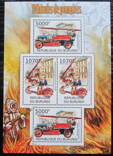 Poštovní známky Burundi 2012 Hasièi Mi# 2422,2424 Bogen