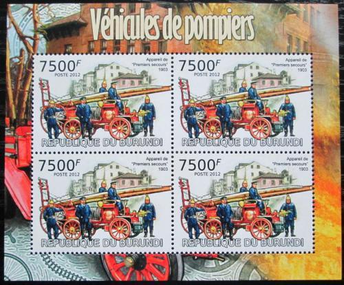 Poštovní známky Burundi 2012 Hasièi Mi# 2425 Bogen