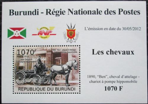 Poštovní známka Burundi 2012 Hasièský dostavník DELUXE Mi# 2401 Block