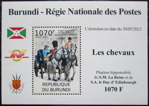 Poštovní známka Burundi 2012 Královský dostavník DELUXE Mi# 2402 Block
