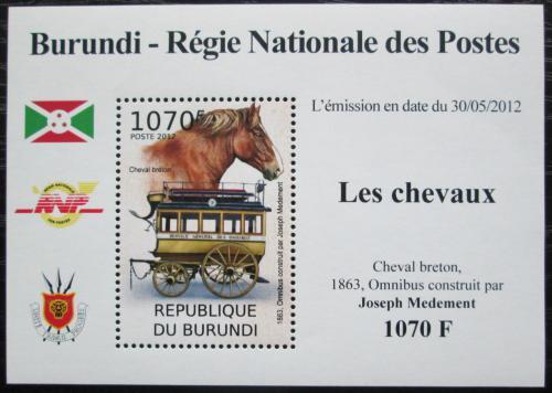Poštovní známka Burundi 2012 Dostavník Omnibus DELUXE Mi# 2403 Block