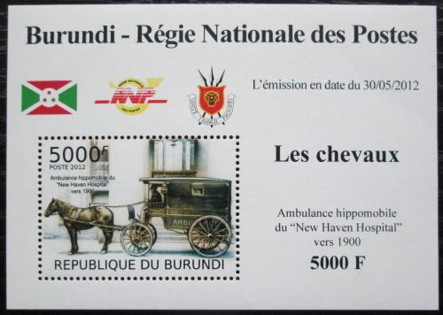 Poštovní známka Burundi 2012 Nemocnièní dostavník DELUXE Mi# 2404 Block