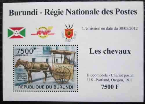 Poštovní známka Burundi 2012 Poštovní dostavník DELUXE Mi# 2405 Block