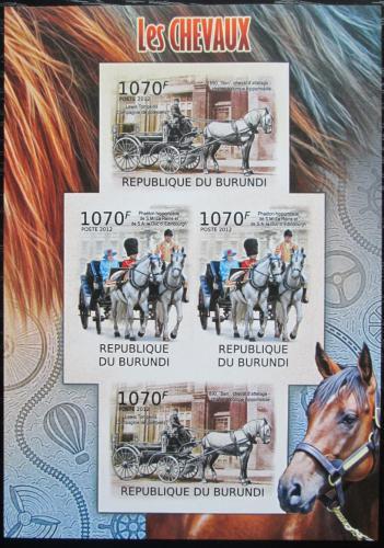 Poštovní známky Burundi 2012 Dostavníky neperf. Mi# 2401-02 B Bogen