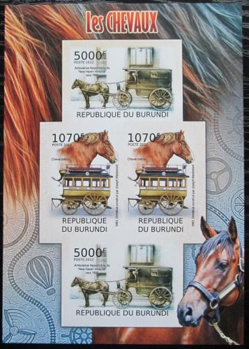 Poštovní známky Burundi 2012 Dostavníky neperf. Mi# 2403-04 B Bogen