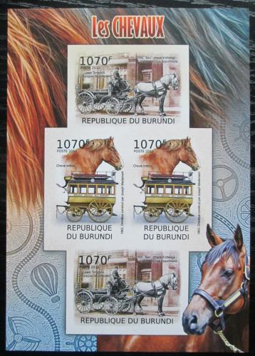 Poštovní známky Burundi 2012 Dostavníky neperf. Mi# 2401,2403 B Bogen