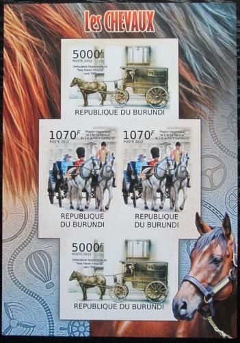 Poštovní známky Burundi 2012 Dostavníky neperf. Mi# 2402,2404 B Bogen