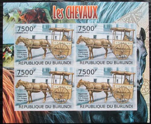 Poštovní známky Burundi 2012 Poštovní dostavník neperf. Mi# 2405 B Bogen