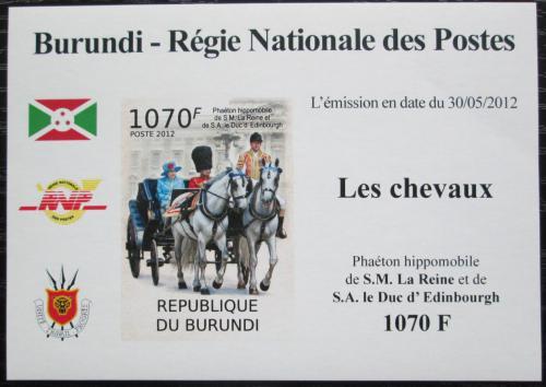 Poštovní známka Burundi 2012 Královský dostavník neperf. DELUXE Mi# 2402 B Block
