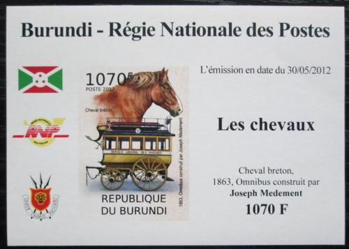 Poštovní známka Burundi 2012 Dostavník Omnibus neperf. DELUXE Mi# 2403 B Block