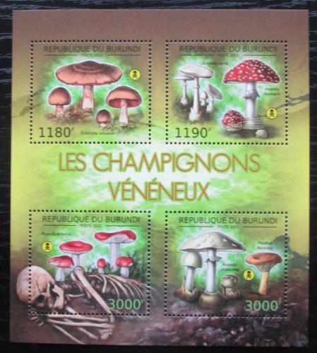 Poštovní známky Burundi 2012 Jedovaté houby Mi# 2743-46 Bogen Kat 10€