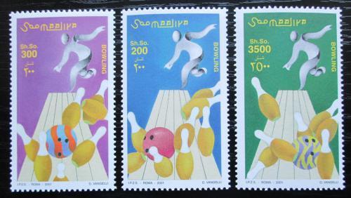 Poštovní známky Somálsko 2001 Bowling TOP SET Mi# 873-75 Kat 20€
