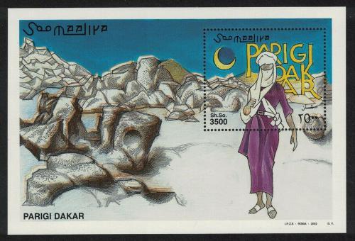 Poštovní známka Somálsko 2002 Rallye Paøíž-Dakar Mi# Block 95 Kat 15€