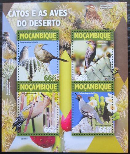 Poštovní známky Mosambik 2016 Toxostomy a kaktusy Mi# 8314-17 Kat 15€