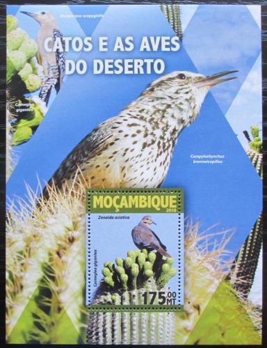 Poštovní známka Mosambik 2016 Toxostomy a kaktusy Mi# Block 1103 Kat 10€