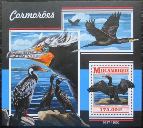 Poštovní známka Mosambik 2015 Kormoráni Mi# Block 1072 Kat 10€