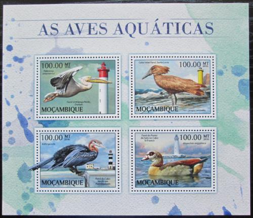 Poštovní známky Mosambik 2014 Vodní ptáci a majáky Mi# 8914-17 Kat 22€